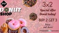 Donut day งานแสดงผลงานแบบดิจิทัล (16:9) template