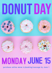 Donut Day event poster A4 template