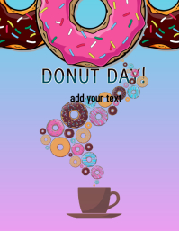 Donut Day Flyer Folheto (US Letter) template