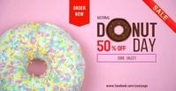 Donut Day Sale Facebook Advertensie template