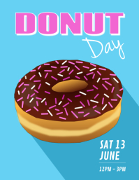 Donut Рекламная листовка (US Letter) template