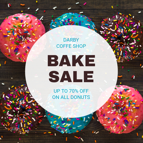 Donut Discount Bake Sale Instagram Template