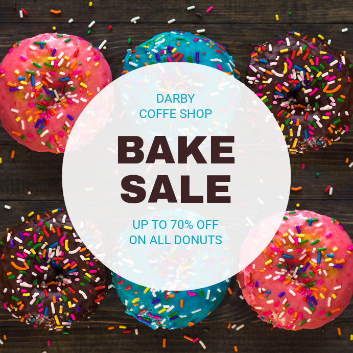 Donut Discount Bake Sale Instagram Template PosterMyWall