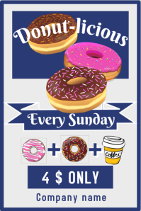 Donut-licious business poster , ideal for a c