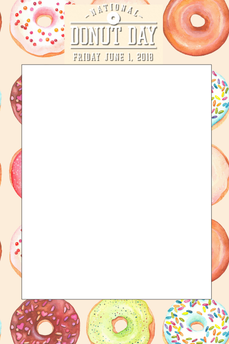 Donut Party Prop Frame