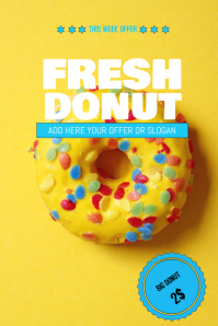 Donut sale flyer template
