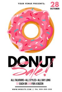 Donut Sale Poster