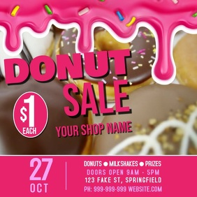 Donut Sale Poster