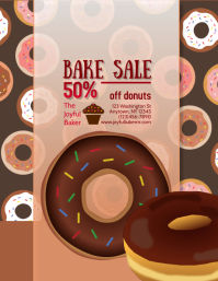 Donut Shop Bakery Bake Sale Flyer
