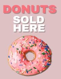 Donut Shop Flyer Template