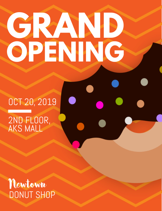 Donut Shop Grand Opening Flyer