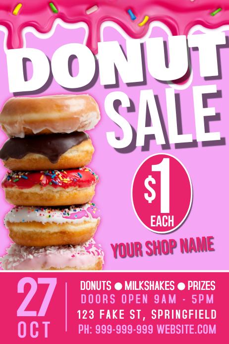 Donut Shop Poster Plakat template