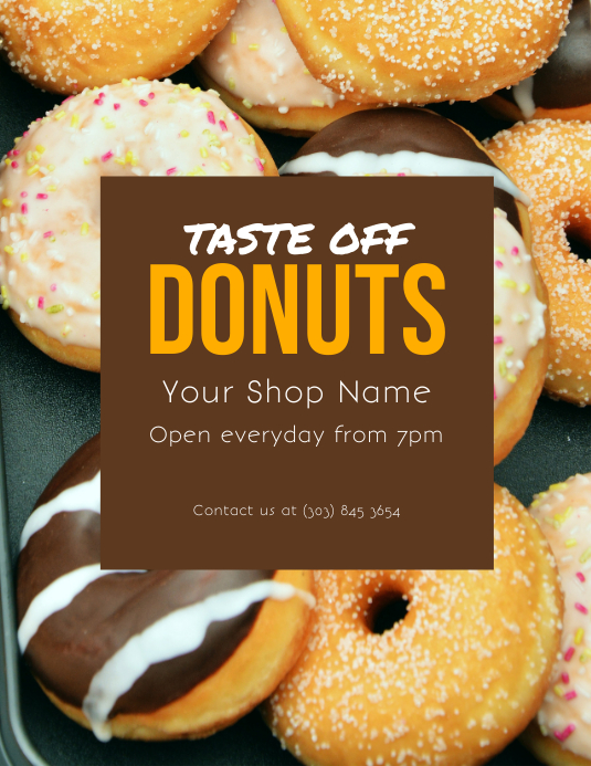 Donuts Flyer template