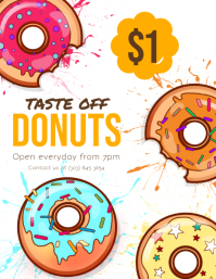 60 customizable design templates for donut postermywall
