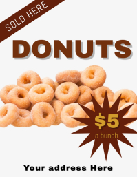 Donuts For Sale Flyer Template