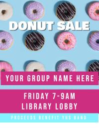 Donuts Fundraiser Flyer