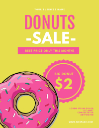 Donuts Sale Flyer template