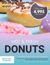 Donuts Sale Flyer Template 传单(美国信函)