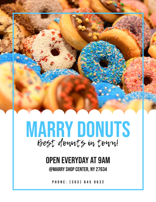 Donuts Shop Flyer