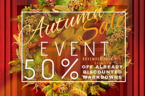 Door Autumn Corn Leaves Foliage Wreath Sale Discount Promo