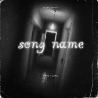Door Horror Mixtape cover art design template