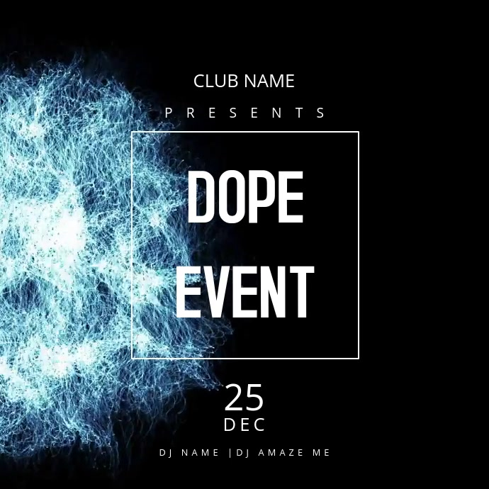 dope event flyer template postermywall