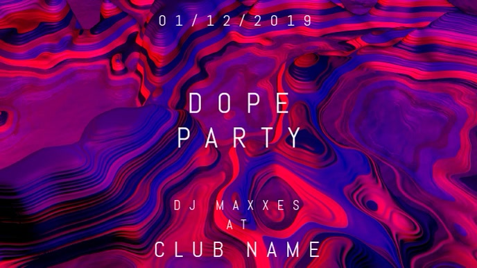 Dope Party - Event Flyer Digital na Display (16:9) template