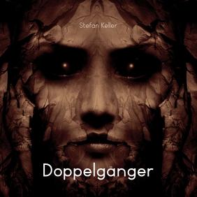 Doppelgänger Dark Portrait CD Cover Template Albumhoes