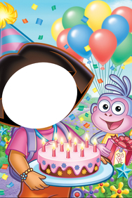 Dora Birthday Party Prop Frame