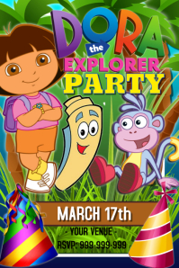 Dora The Explorer Party Poster template