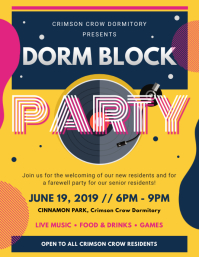 Dorm Block Party Flyer