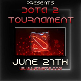 DOTA 2 TOURNAMENT ad video digital Logo template