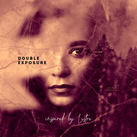 Double Exposure CD Cover Art Template