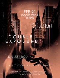Double Exposure City Girl Flyer