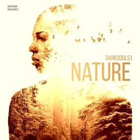 Double Exposure Nature CD Cover Art Albumcover template