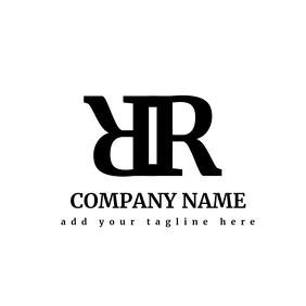 Double R black and white logo