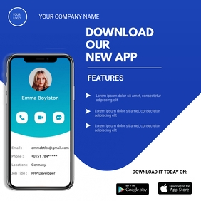Download app flyer Instagram na Post template