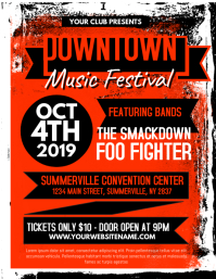 Downtown Music Festival Flyer