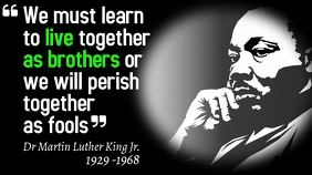 Dr Martin Luther King Quotes Poster Template Digital Display (16:9)