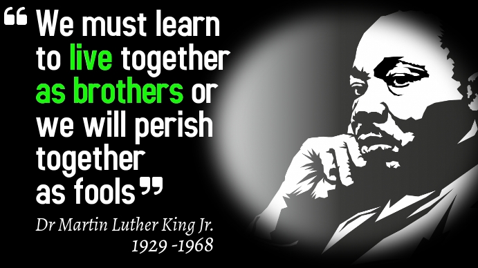 Dr Martin Luther King Quotes Poster Template Tampilan Digital (16:9)