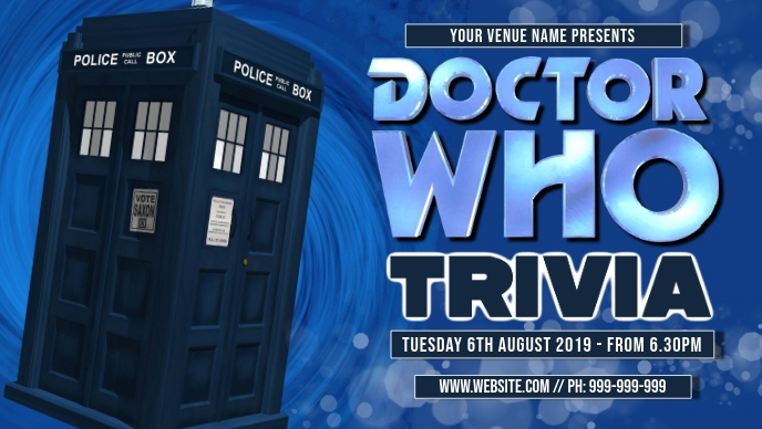 Dr Who Trivia Facebook Cover template