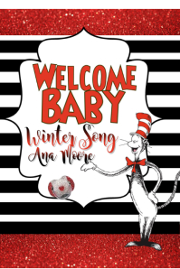 Dr. Seuss Baby Shower Sign Póster template