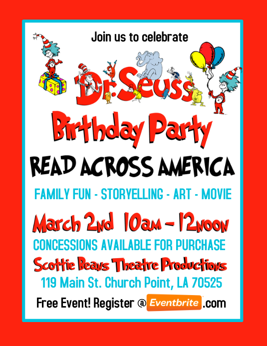 DR. SEUSS BIRTHDAY PARTY INVITATION · Customize template