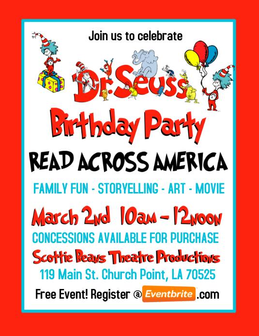 DR. SEUSS BIRTHDAY PARTY INVITATION