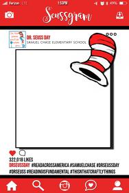 Dr. Seuss Party Prop Frame