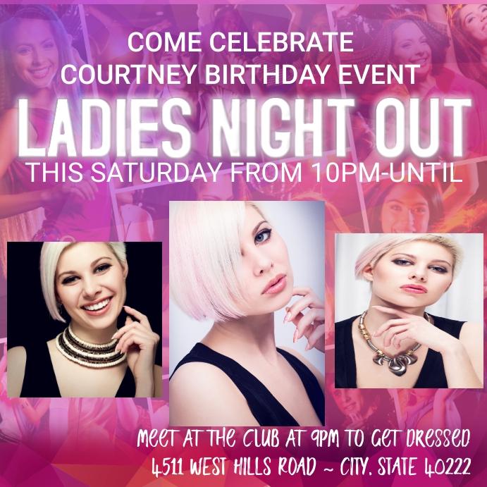 Ladies Night Invitation Flyer Poster Women Drag
