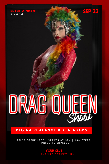Drag Queen Trans Show Flyer Design Template