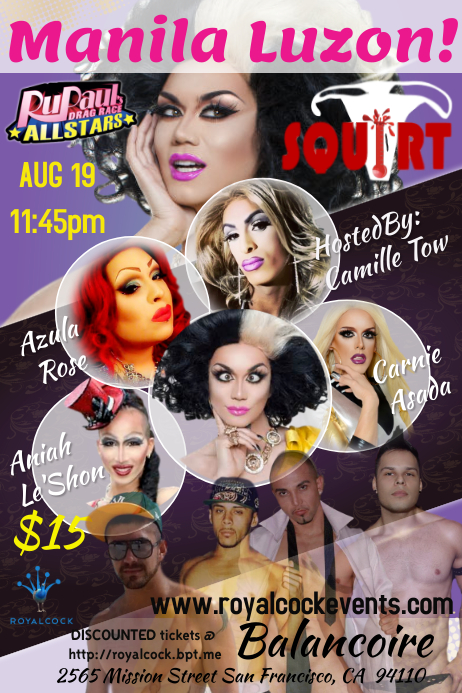 Drag Show Poster template