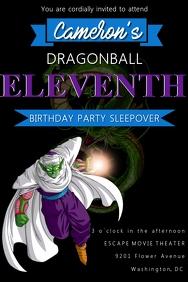 Dragon Ball Z Birthday Invitation