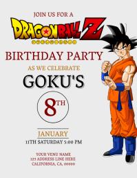 DRAGON BALL Z Birthday Invitation Template